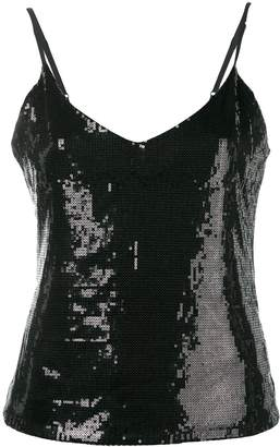 RtA sequinned open back cami