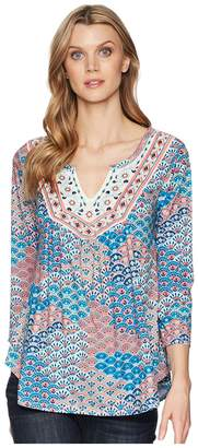 Roper 1575 Printed Ity Jersey Peasant Top Women's Clothing