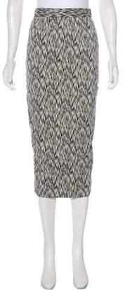 Torn By Ronny Kobo Printed Knee-Length Skirt w/ Tags