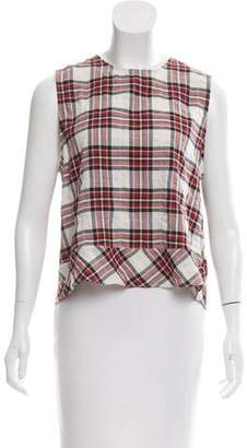 Jenni Kayne Plaid Sleeveless Top w/ Tags