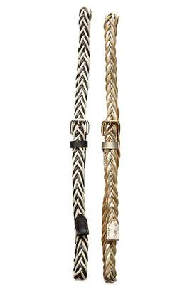 Linea Pelle 2-for-1 Braided Cord Belts