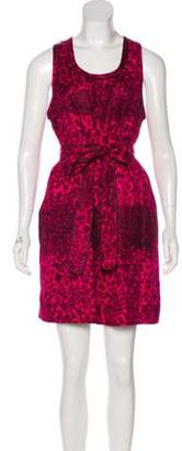 Marc by Marc Jacobs Printed Silk Dress w/ Tags Pink Printed Silk Dress w/ Tags