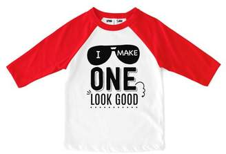 "Sprinkles And Jam ""I Make One Look Good"" 1st Birthday Boy Shirt Raglan Birthday Outfit"