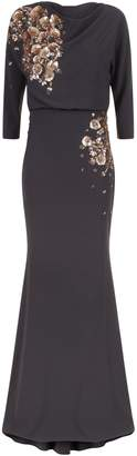 Badgley Mischka Bead Embellished Gown