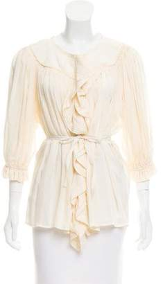 Marc by Marc Jacobs Silk Ruffle Top