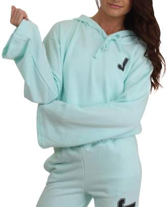 Juicy Couture Womens French Terry Logo Hoodie Blue M