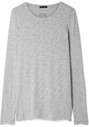 ATM Anthony Thomas Melillo Slub Pima Cotton-blend Jersey Top