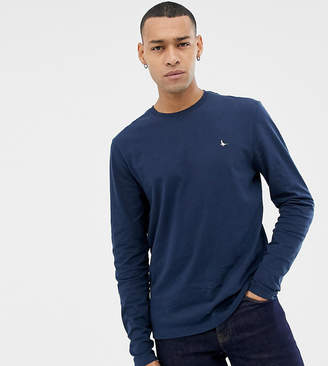 Jack Wills long sleeve logo t-shirt in navy