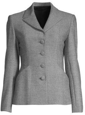 Elie Tahari Alexina Mini Check Wool-Blend Jacket