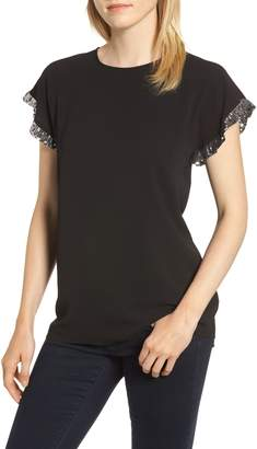 MICHAEL Michael Kors Sequin Ruffle Top