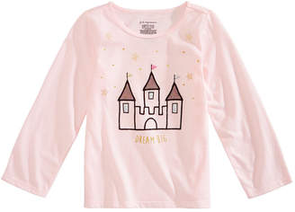 First Impressions Toddler Girls Castle-Print Cotton T-Shirt