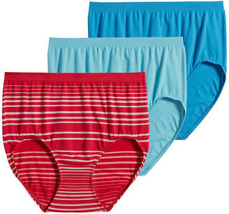 Jockey Comfies 3 Pair Microfiber Brief Panty 3328
