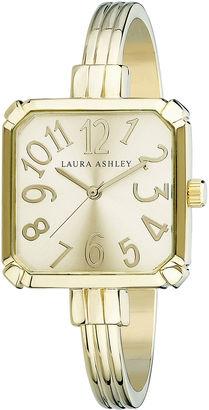 Laura Ashley Womens Gold Tone Bangle Watch-LA31024YG $395 thestylecure.com