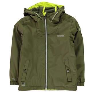 Regatta Kids Boys Henryson Jacket Junior Waterproof Coat Top Long Sleeve Chin