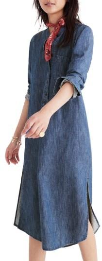 Women's Madwell Denim Midi Popover Shirtdress