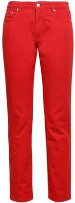 MSGM Embroidered Mid-rise Slim-leg Jeans