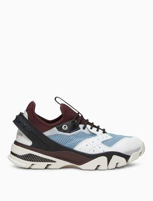 Calvin Klein lace-up athletic sneaker in nappa leather + mesh