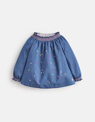 Joules Addison SMOCKED WOVEN TOP