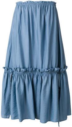 See by Chloe tiered midi skirt