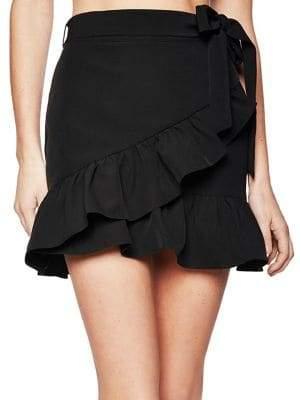 Bardot Frill Tie-Front Skirt