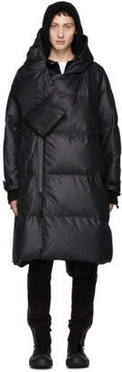 Julius Black Hooded Puffer Down Coat