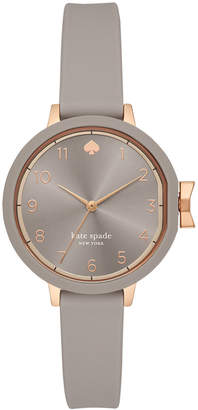 Kate Spade Women Park Row Gray Silicone Strap Watch 34mm