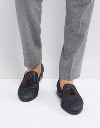 House Of Hounds Brocade Tassel Slipper Loafers