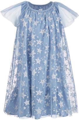 Epic Threads Big Girls Star-Print Mesh Shift Dress, Created for Macy's
