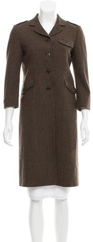 Miu Miu Miu Miu Wool Three-Button Coat