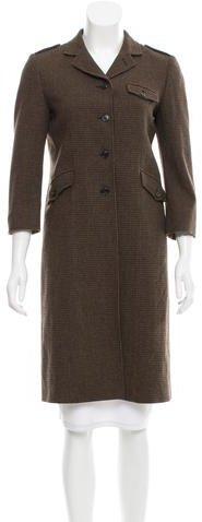 Miu MiuMiu Miu Wool Three-Button Coat