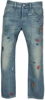 Gucci Washed Embroidered Jeans