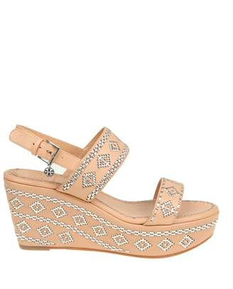 """Tory Burch blake Ankle-strap Wedge Sandal"""" Sandal In Leather"""