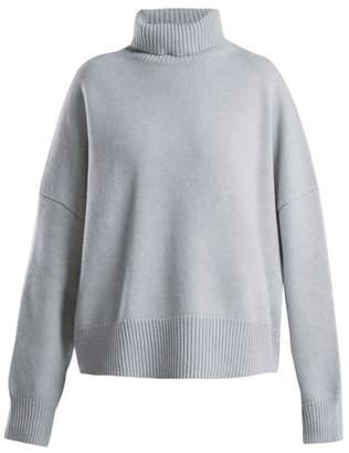 Nili Lotan - Serinda Roll Neck Wool And Cashmere Blend Sweater - Womens - Light Blue