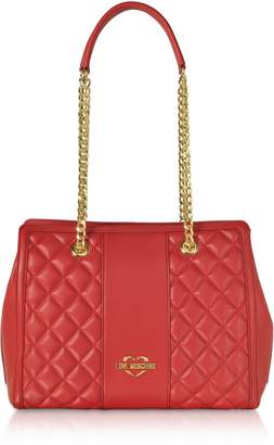 b3b5e3330e Love Moschino Quilted Eco Leather Shoulder Bag