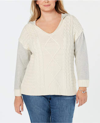 INC International Concepts I.n.c. Plus Size Hooded Sweater
