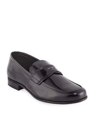 Prada Spazzolato Leather Loafer