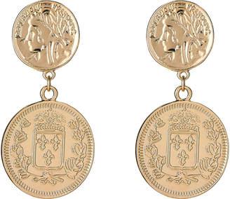 Ettika Gold-Tone Coin Drop Earrings