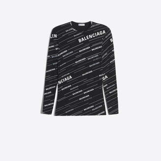 Balenciaga monogram print fitted t-shirt