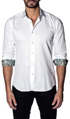 Jared Lang Long Sleeve Solid Slim Fit Shirt