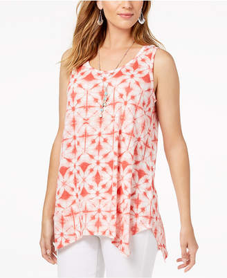 Style&Co. Style & Co Printed Scoop-Neck Tank Top, Created for Macy's
