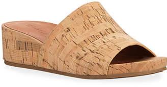 Gentle Souls Gisele Cork Demi-Wedge Slide Sandals