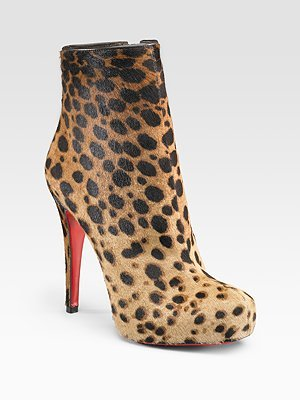 Christian Louboutin Leopard-Print Ankle Boots