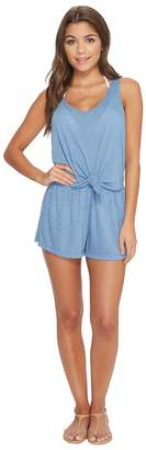 Becca by Rebecca Virtue Breezy Basic Knot Romper Cover-Up Women's Jumpsuit & Rompers One Piece