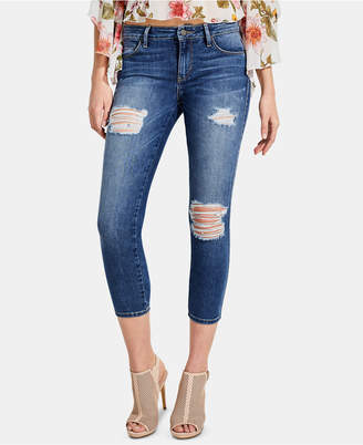 GUESS Sexy Curve Ripped Cropped Jeans