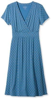 L.L. Bean L.L.Bean Summer Knit Dress, Short-Sleeve Geo Print