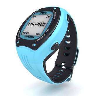 Pyle Multi-Function Digital LED Sports Training Watch with GPS Navigation (Blue Color)