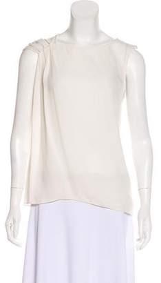 Halston Sleeveless Silk Top