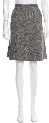 Magaschoni Tweed A-Line Skirt