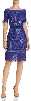 Tadashi Shoji Tadashi Petites Petites Off-the-Shoulder Lace Dress