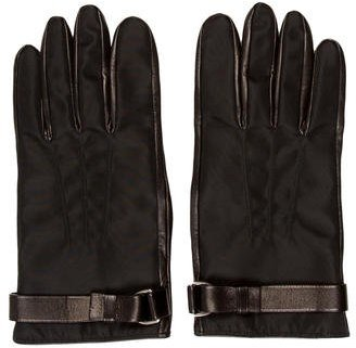 prada Prada Black Nylon Gloves